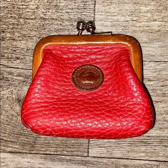 Vintage red coin purses Dooney & bourke